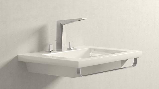 GROHE Allure Brilliant L-Størrelse + Laufen Living Square
