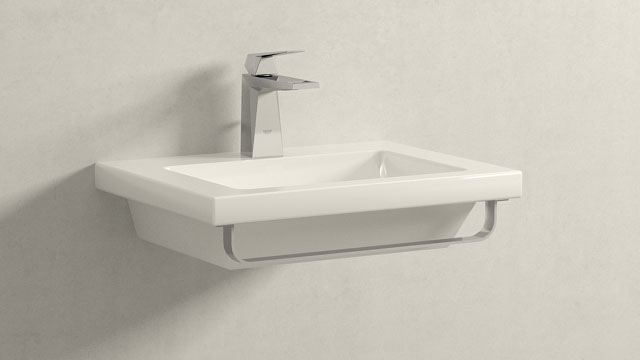 GROHE Allure Brilliant S-Størrelse + Laufen Living Square
