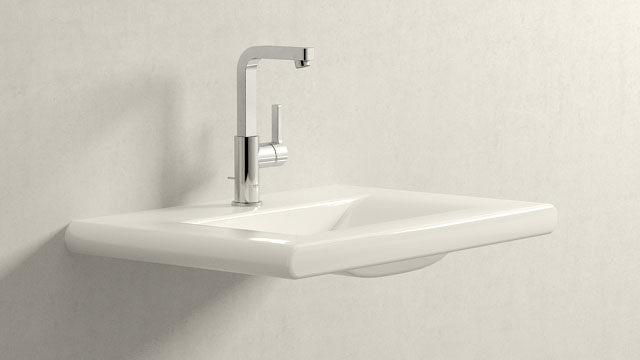 GROHE LINEARE L-GRÖSSE + LAUFEN LIVING STYLE
